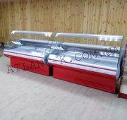 Холодильные витрины JUKA ,  выкладка 740 мм,  длина 1, 3 1, 6 1, 9м